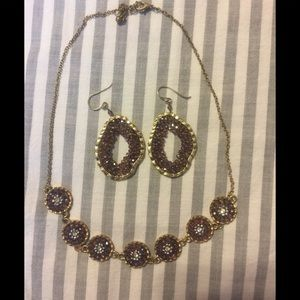 Francesca's beaded necklace and earring set